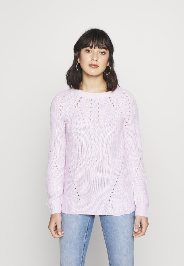 STITCH INTEREST JUMPER - Jersey de punto - blush