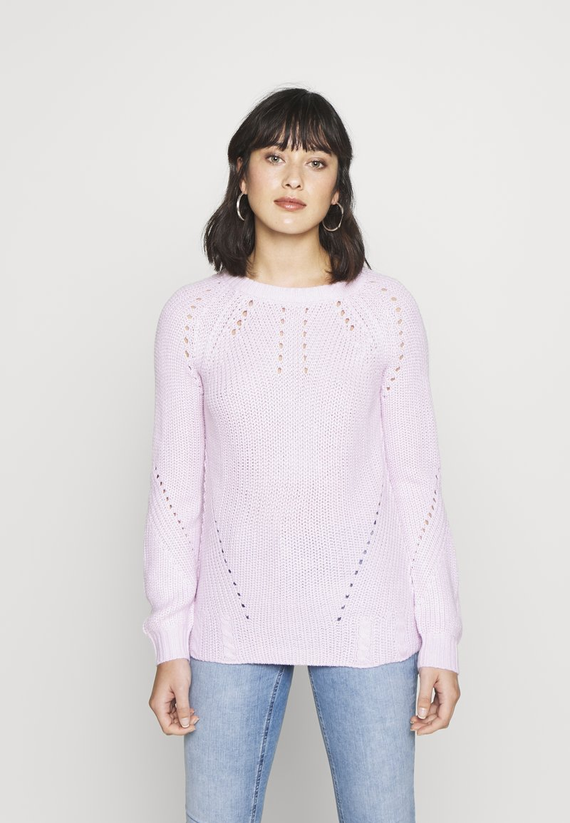 Dorothy Perkins Petite - STITCH INTEREST JUMPER - Jersey de punto - blush
