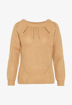 LATTE STITCH INTEREST JUMPER - Strikkegenser - latte