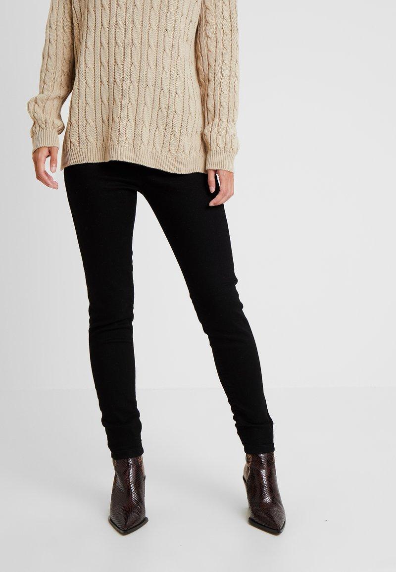 Dorothy Perkins Petite - EDEN HIGH WAIST - Jeans Skinny Fit - black