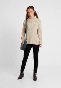 Dorothy Perkins Petite - EDEN HIGH WAIST - Jeans Skinny Fit - black - 1
