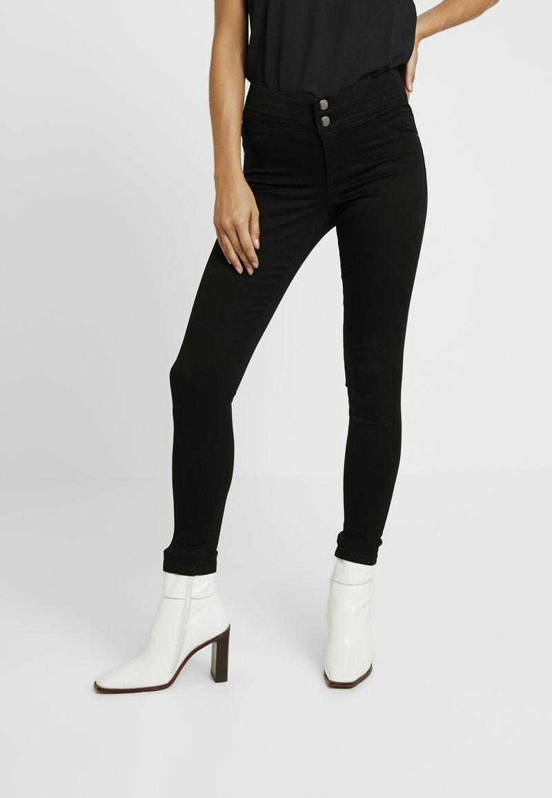 Dorothy Perkins Petite - BUTTON FRANKIE - Jeans Skinny Fit - black