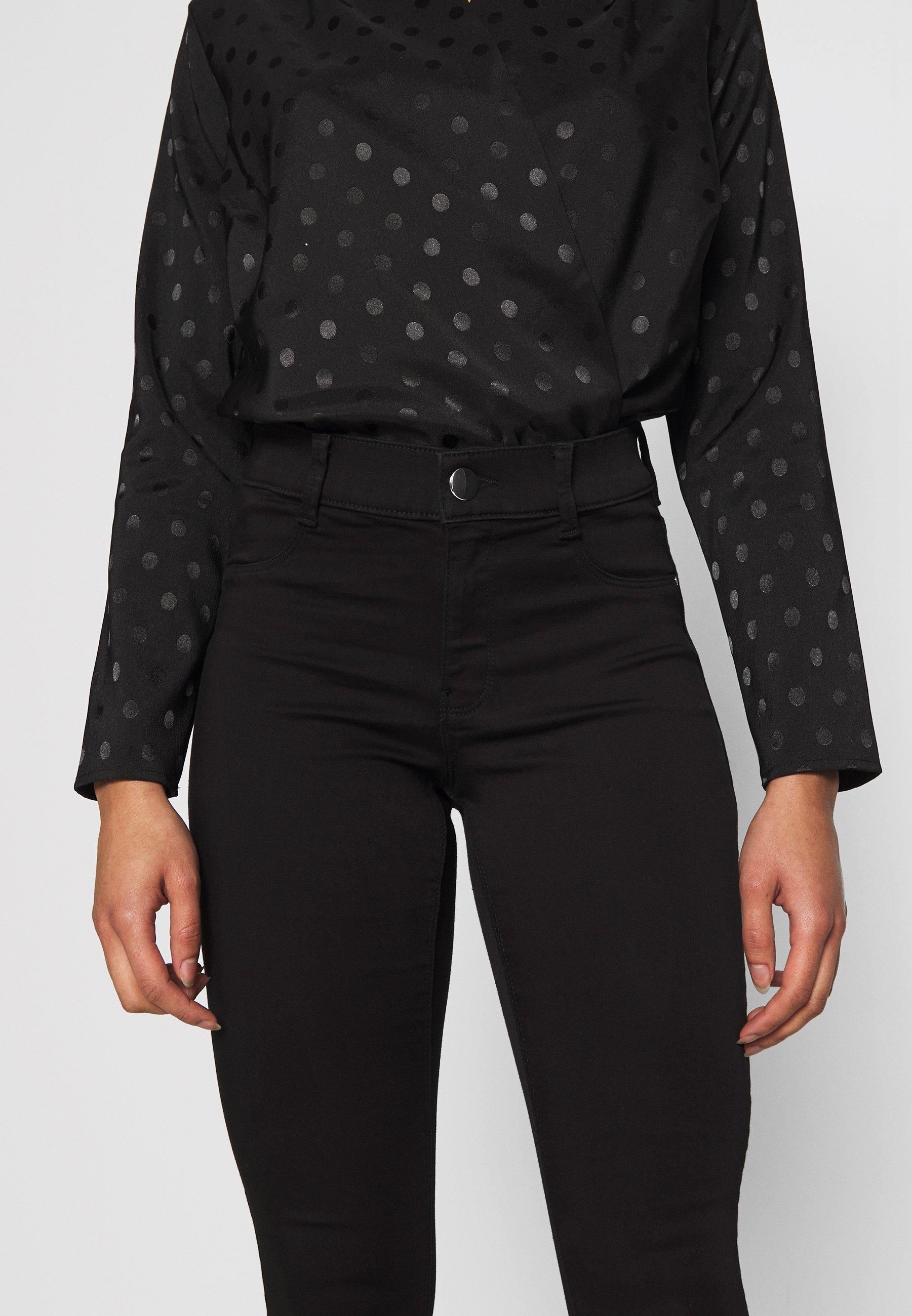 Dorothy Perkins Petite FRANKIE - Spodnie materiałowe - black
