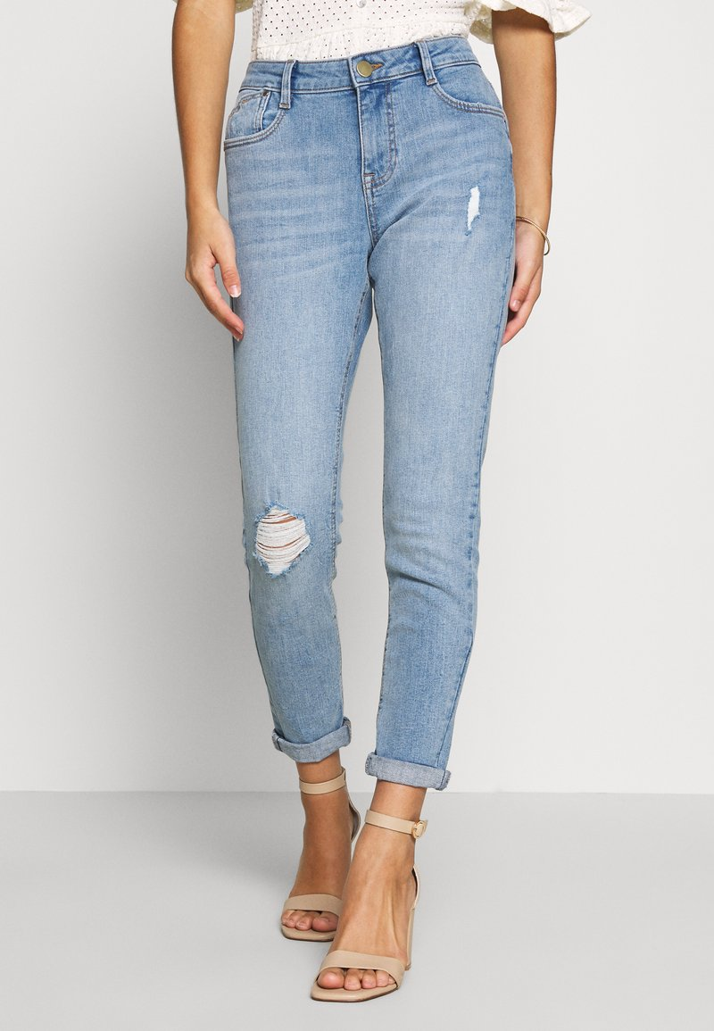 Dorothy Perkins Petite - HARPER  - Jeans Skinny Fit - light wash denim