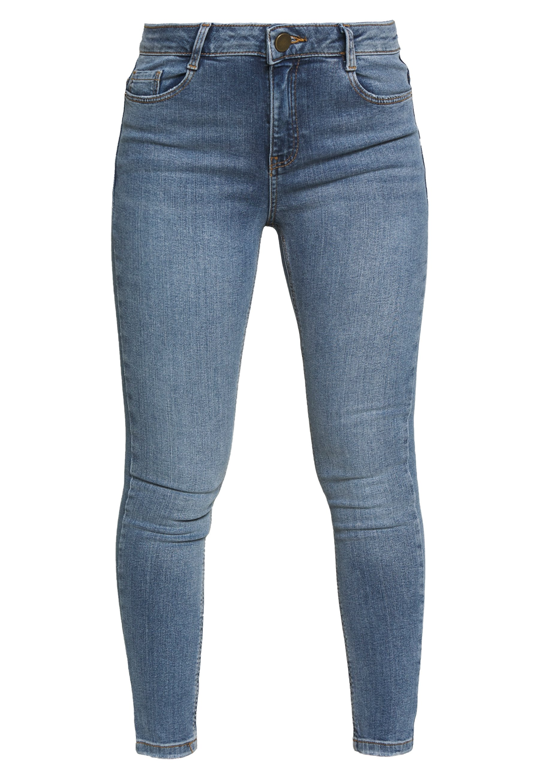 Dorothy Perkins Petite PETITES MIDWASH SHAPING JEAN - Jeans Skinny Fit - mid wash denim VSoX3bkI