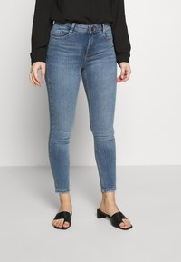 Dorothy Perkins Petite - PETITES MIDWASH SHAPING JEAN - Jeans Skinny Fit - mid wash denim - 0