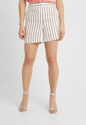 STRIPE - Shorts - taupe