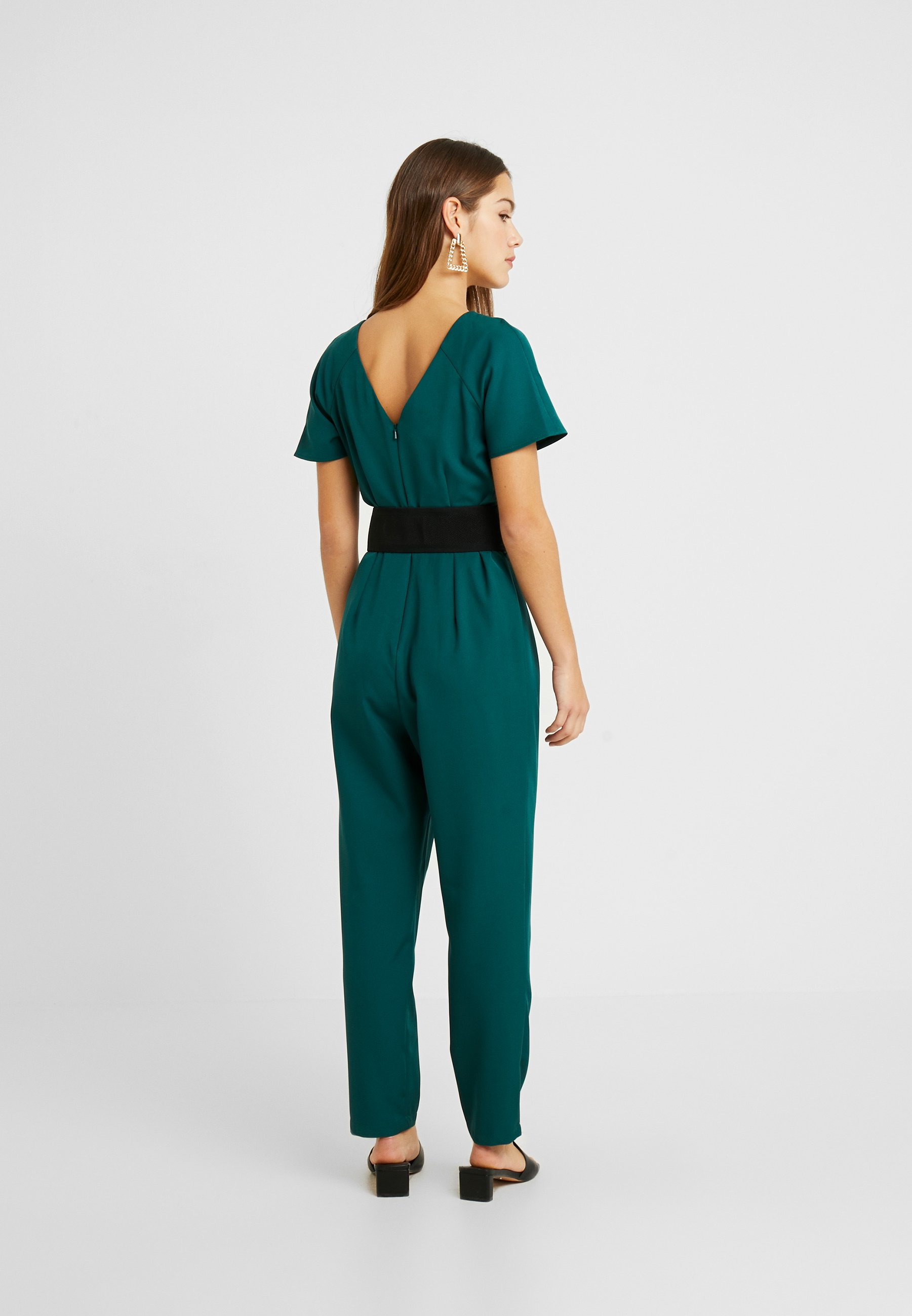 Dorothy Perkins Petite BELTED JUMPSUIT - Tuta jumpsuit forest green