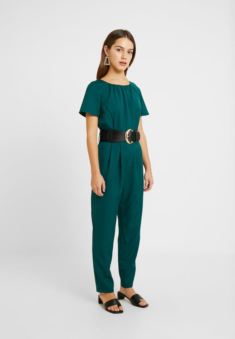 Dorothy Perkins Petite - BELTED JUMPSUIT - Kombinezon - forest green