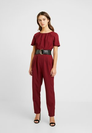 BELTED - Jumpsuit - berry