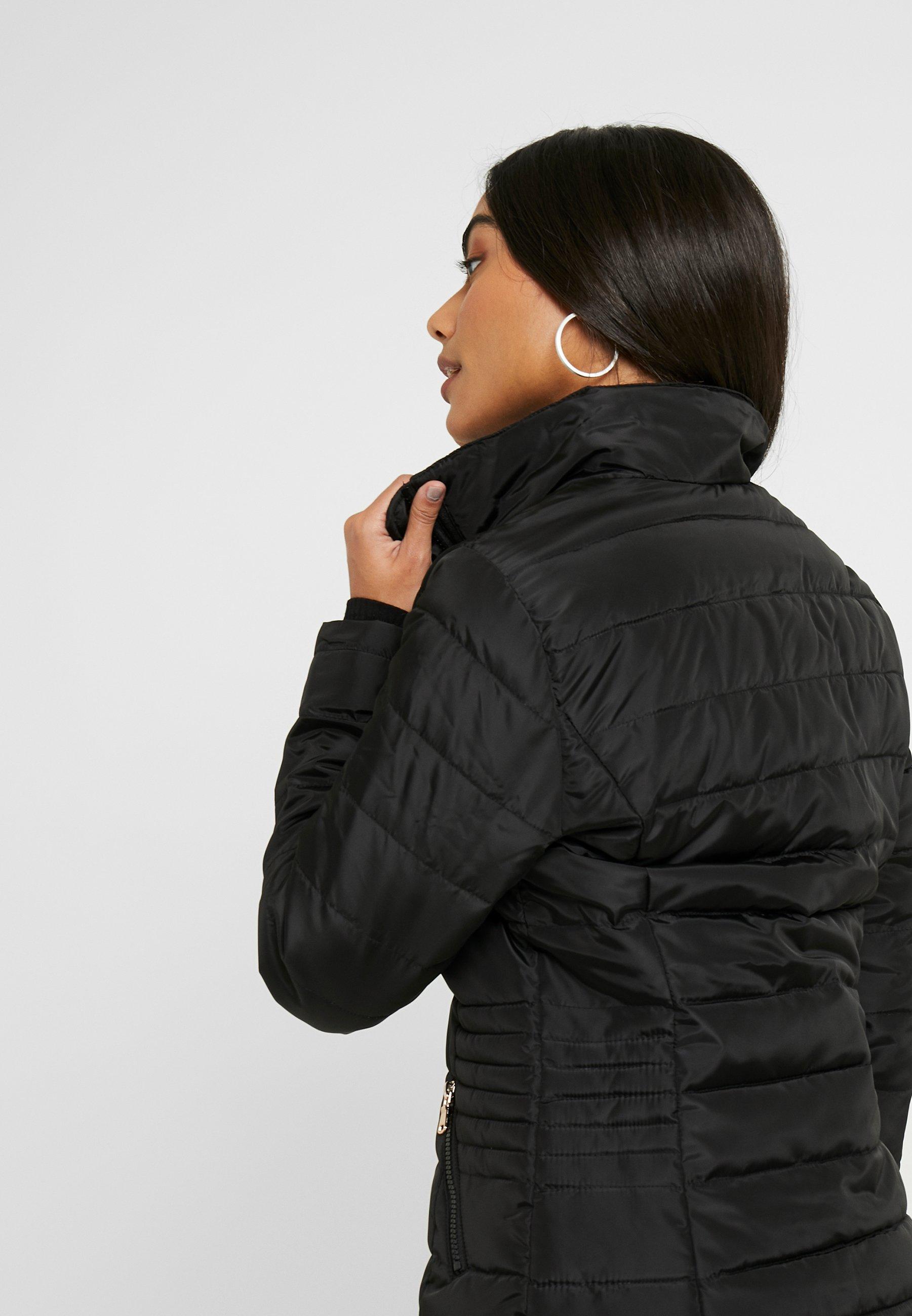 Dorothy Perkins Petite Sustainable Lightweight Short Padded Jacket - Parka Black YITcWFM1