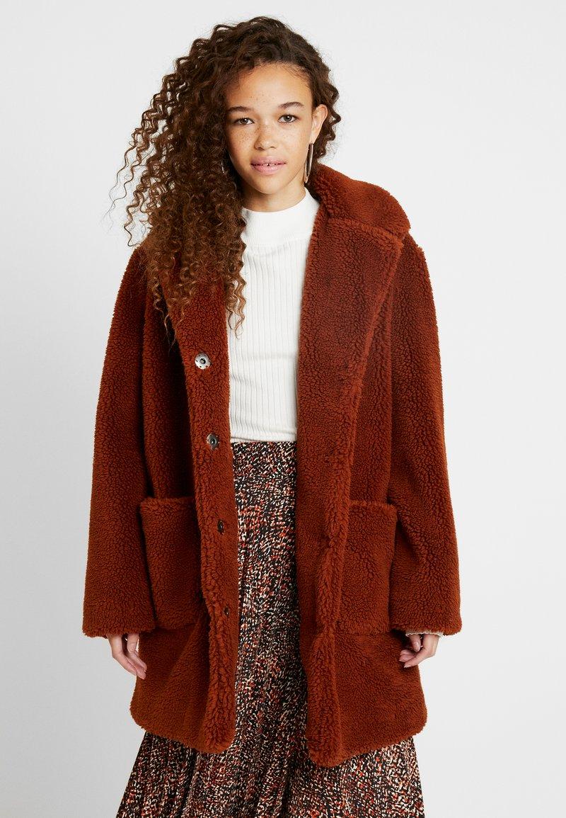 Dorothy Perkins Petite - LONGLINE COAT - Abrigo de invierno - rust