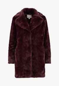 Dorothy Perkins Petite - LONG LINE PELTED - Winter coat - berry red - 4