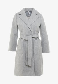 Dorothy Perkins Petite - PATCH POCKET WRAP COAT - Villakangastakki - grey - 3