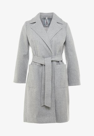 PATCH POCKET WRAP COAT - Zimní kabát - grey