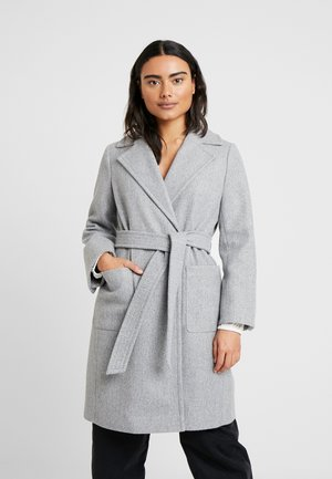 PATCH POCKET WRAP COAT - Classic coat - grey