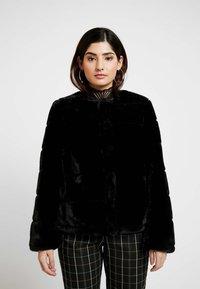 Dorothy Perkins Petite - SHORT CARVED - Winter jacket - black - 0