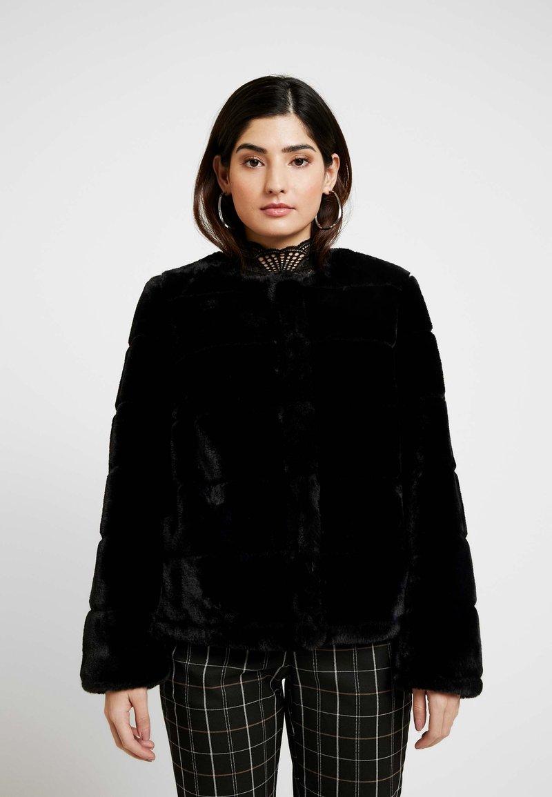 Dorothy Perkins Petite - SHORT CARVED - Winter jacket - black