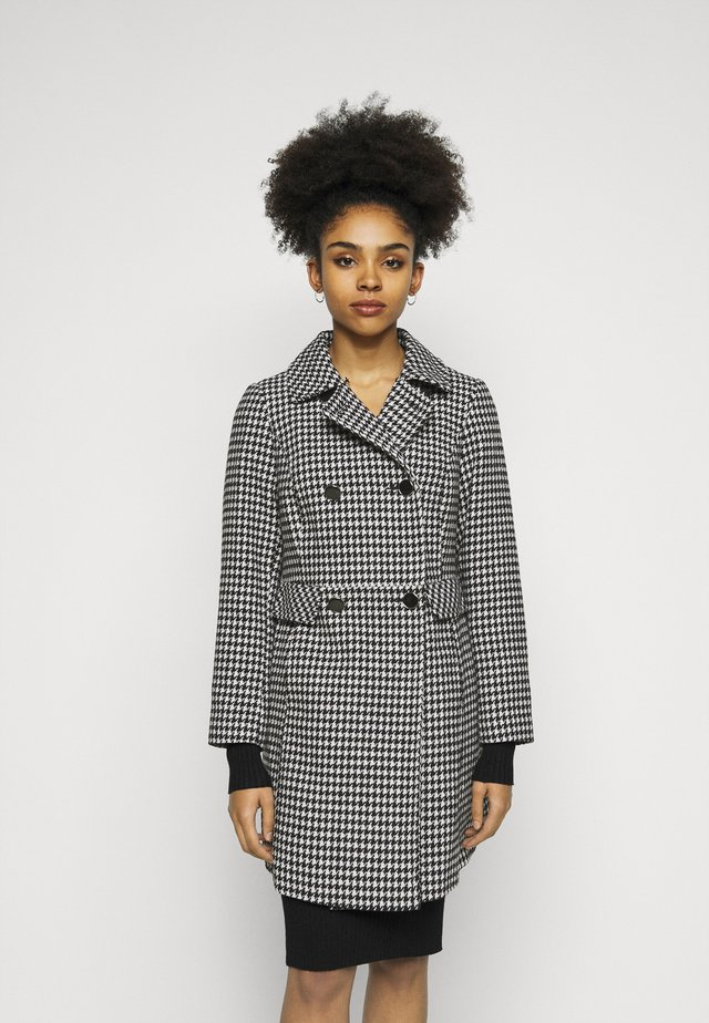 DOUBLE BREASTED DOLLY COAT - Kåpe / frakk - black/cream