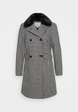 DOUBLE BREASTED DOLLY COAT - Classic coat - black/cream