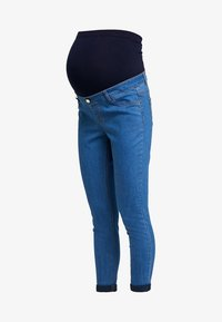 Dorothy Perkins Maternity - OVER BUMP HARPER CROP - Jeans slim fit - bright blue - 4