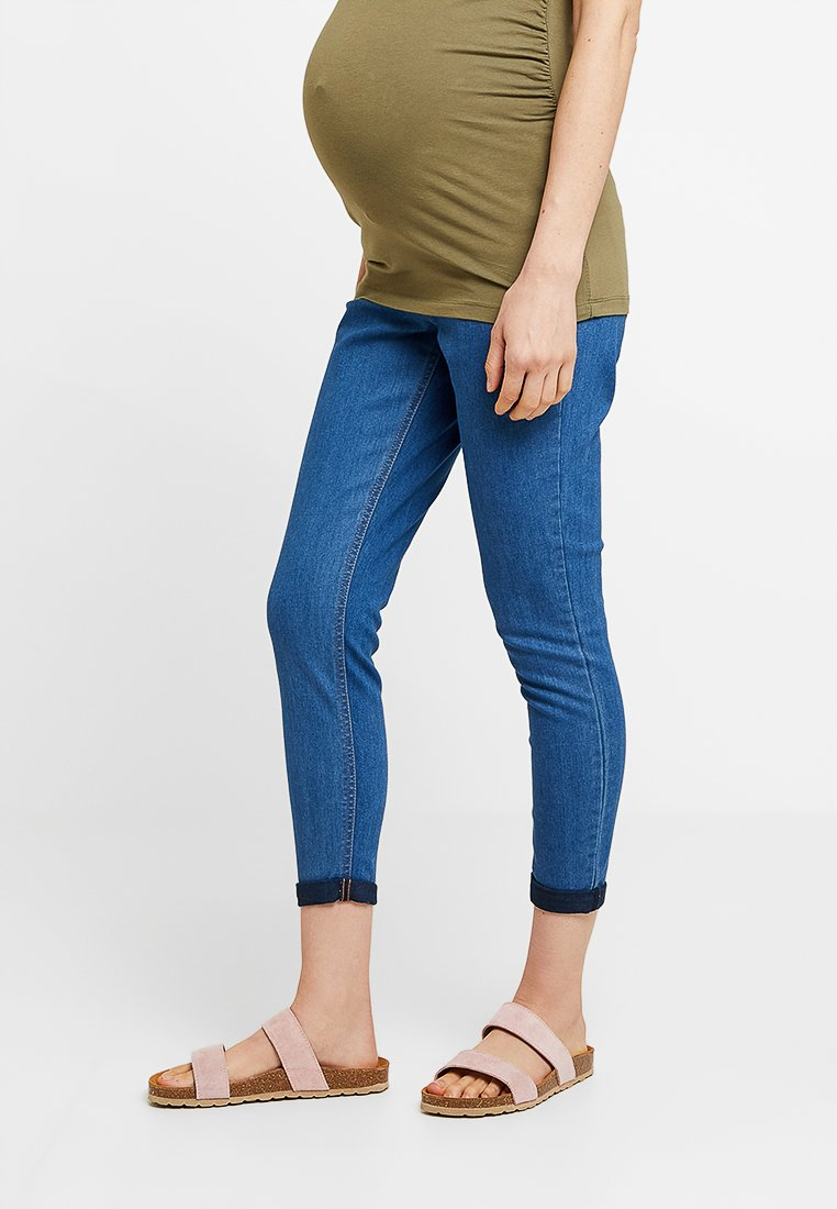 Dorothy Perkins Maternity - OVER BUMP HARPER CROP - Jeans slim fit - bright blue