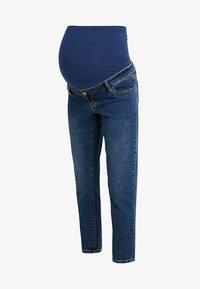 Dorothy Perkins Maternity - OVER BUMP BOYFRIEND - Jeans baggy - midwash - 4