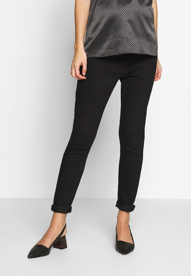Dorothy Perkins Maternity - OVERBUMP EDEN  - Slim fit jeans - black
