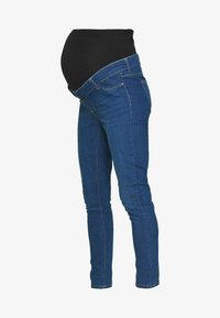 Dorothy Perkins Maternity - OVERBUMP EDEN JEGGING - Jeans slim fit - mid wash denim - 4