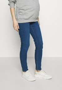 Dorothy Perkins Maternity - OVERBUMP EDEN JEGGING - Jeans slim fit - mid wash denim - 0