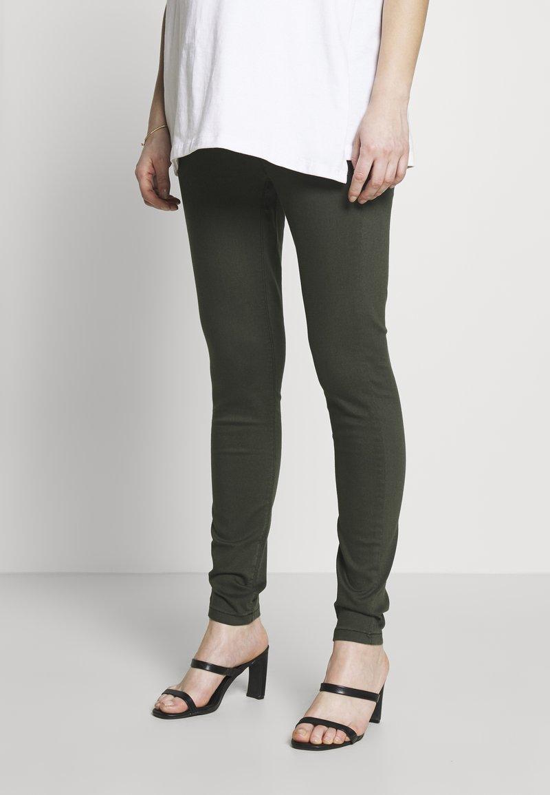 Dorothy Perkins Maternity - MATERNITY OVERBUMP EDEN JEGGING - Jeans Skinny Fit - khaki