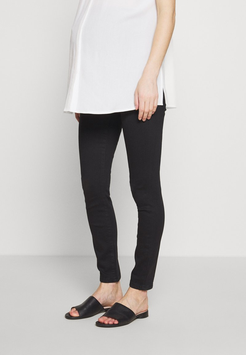 Dorothy Perkins Maternity - OVERBUMP ALEX - Jeansy Skinny Fit - black