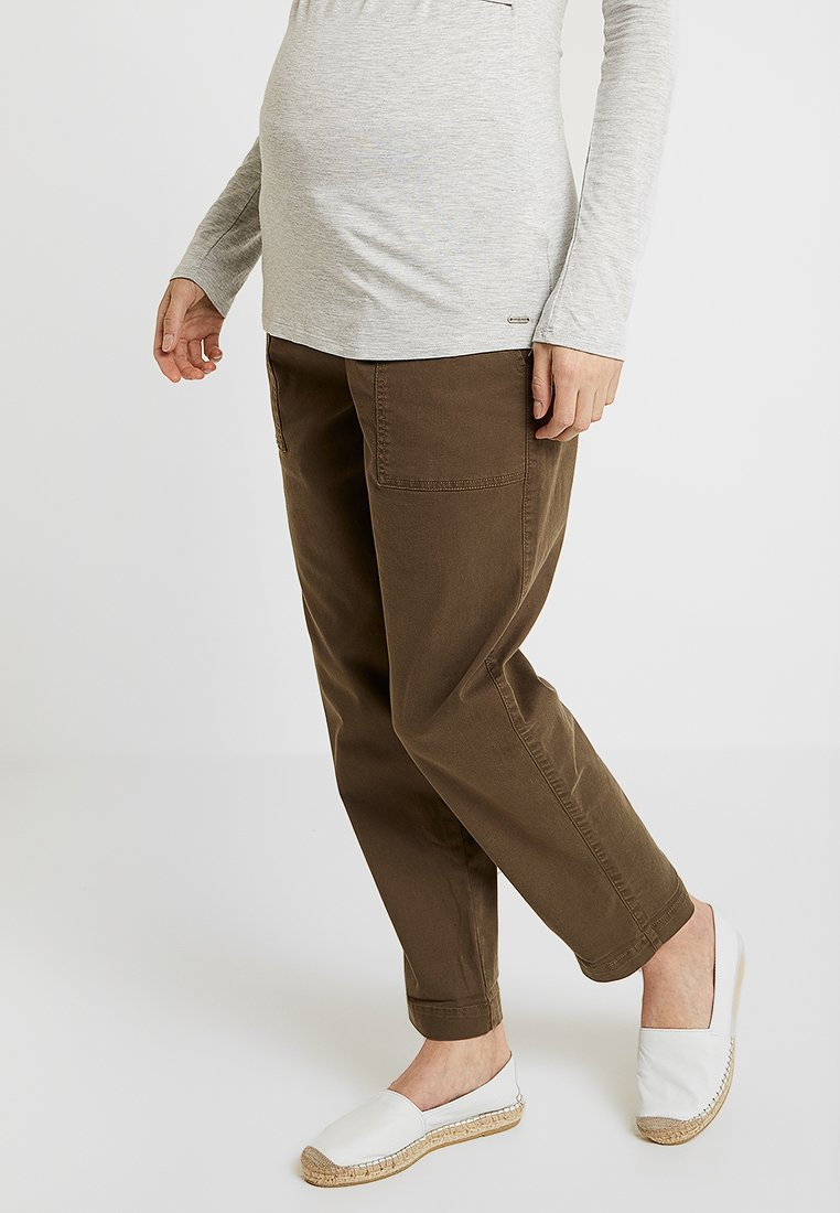 Dorothy Perkins Maternity - UNDER BUMPUTILITY TROUSERS - Trousers - khaki