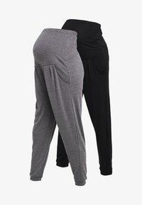 Dorothy Perkins Maternity - OVERBUMP JOGGERS 2 PACK - Pantalon de survêtement - black/charcoal - 4