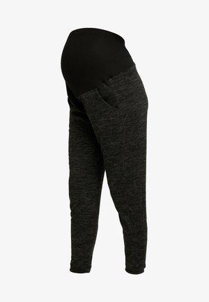 BRUSHED JOGGER PLAIN - Teplákové kalhoty - charcoal