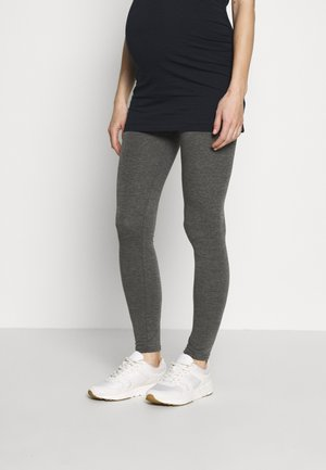 MATERNITY PLAIN - Legginsy - charcoal