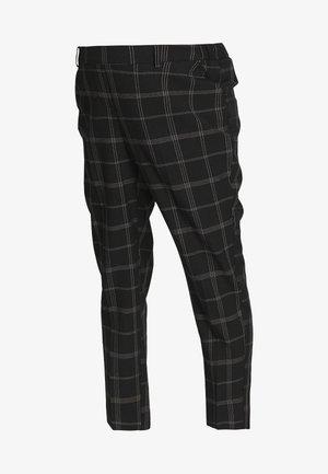 MATERNITY GRID CHECK ANKLE GRAZER - Spodnie materiałowe - black