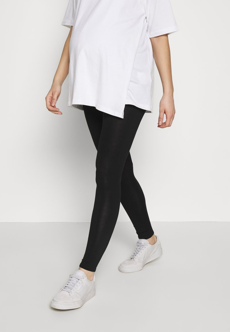 Dorothy Perkins Maternity - PLAIN - Legginsy - black