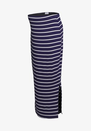 STRIPE MIDI SKIRT - Pencil skirt - navy