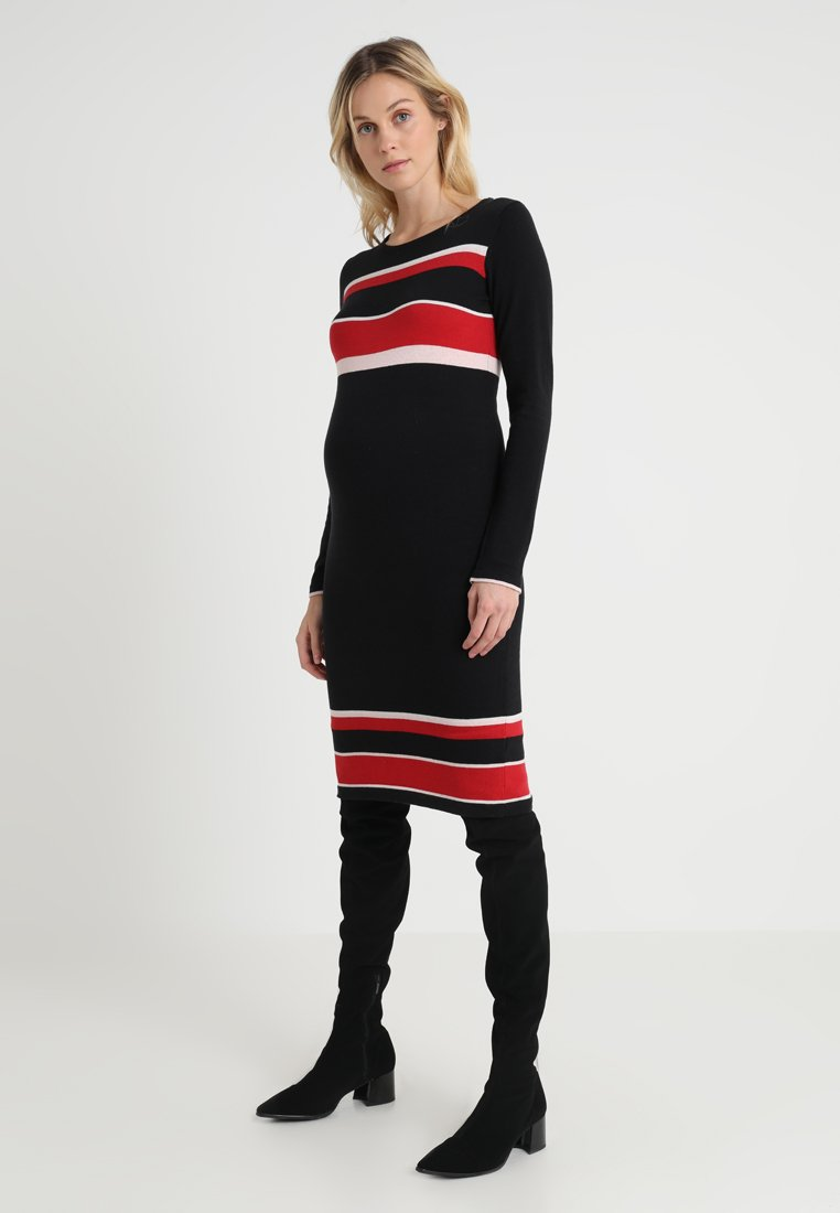 Dorothy Perkins Maternity - TIPPED DRESS - Jumper dress - black