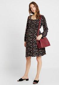 Dorothy Perkins Maternity - BUTTON DOWN TEA DRESS - Day dress - black - 1