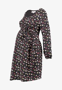 Dorothy Perkins Maternity - BUTTON DOWN TEA DRESS - Day dress - black - 4