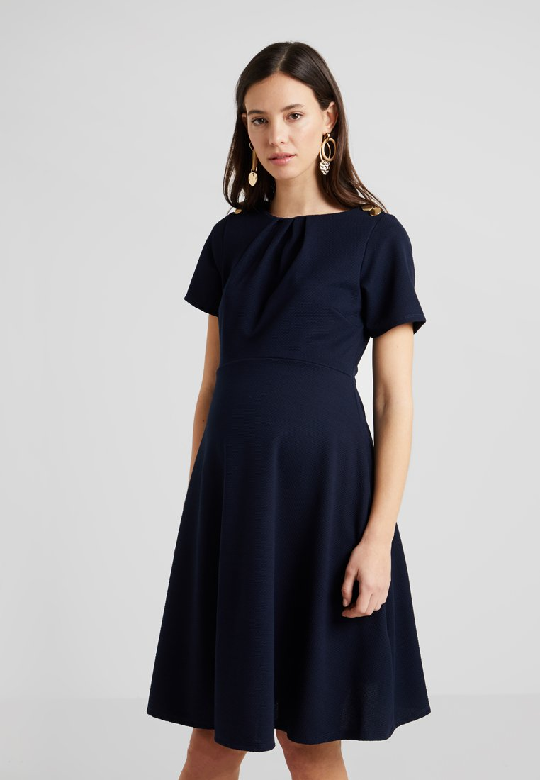 Dorothy Perkins Maternity - BUTTON SHOULDER DETAIL DRESS - Trikoomekko - navy