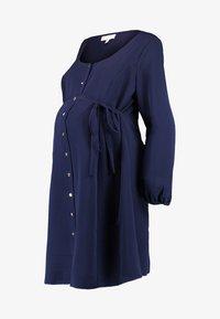 Dorothy Perkins Maternity - BUTTON TEA DRESS - Košilové šaty - navy - 4