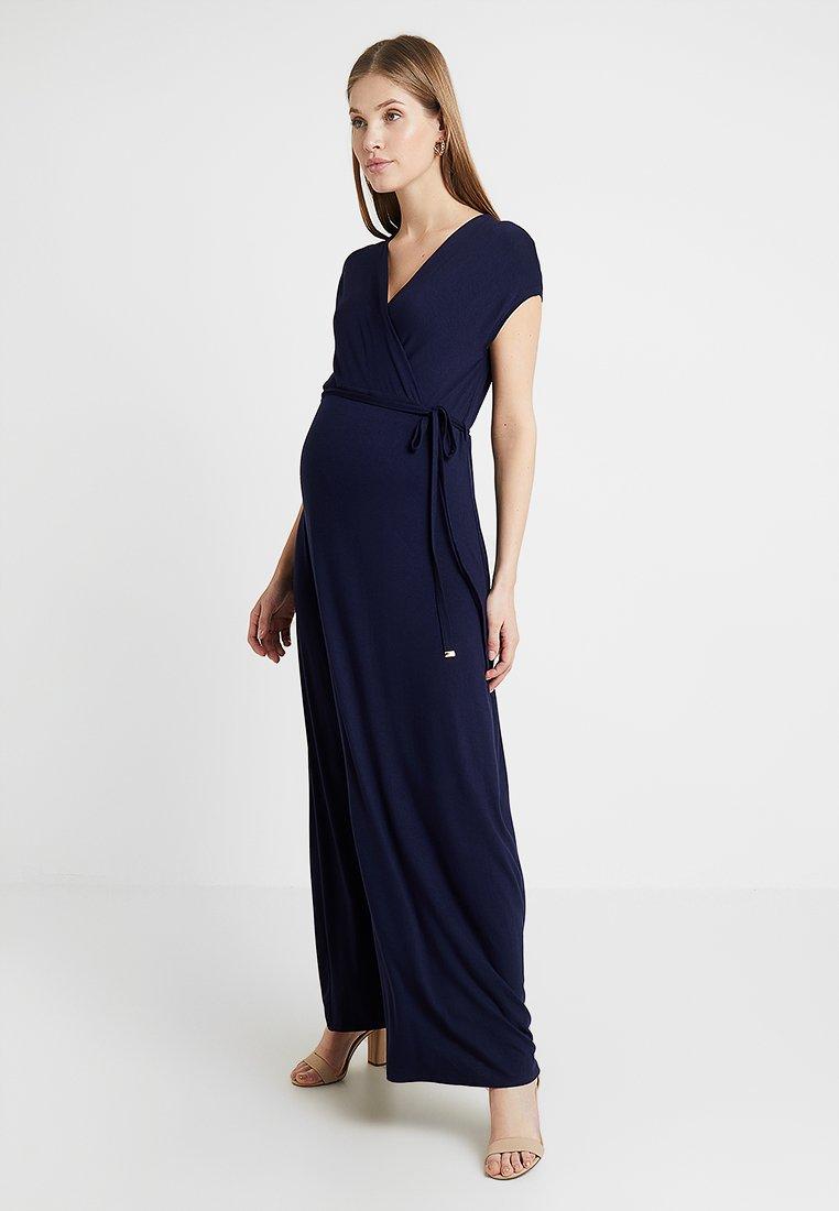 Dorothy Perkins Maternity - WRAP MAXI DRESS - Maxi dress - navy