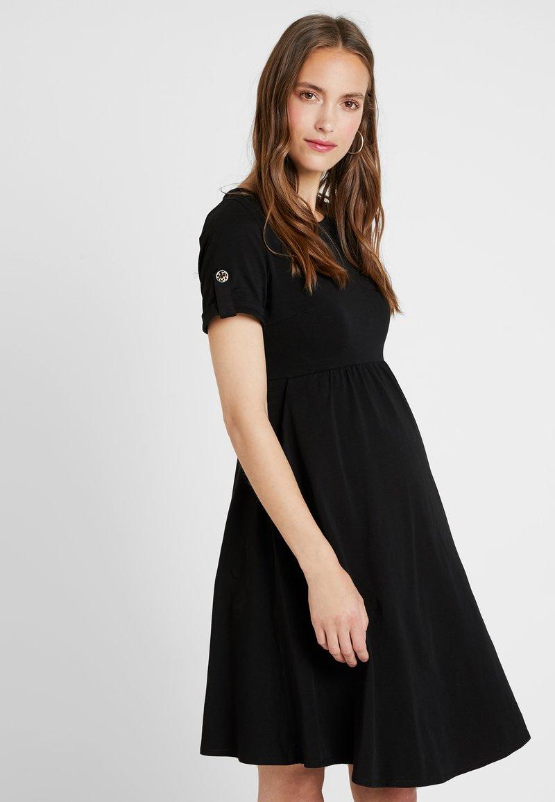 Dorothy Perkins Maternity - SHORT SLEEVE DRESS - Jersey dress - black