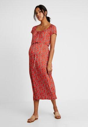 DITSY FLORAL MIDAXI - Žerzejové šaty - red