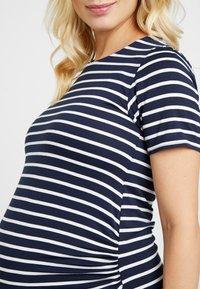 Dorothy Perkins Maternity - STRIPE SLEEVE SLEEVE BODYCON DRESS - Vestido ligero - navy - 5