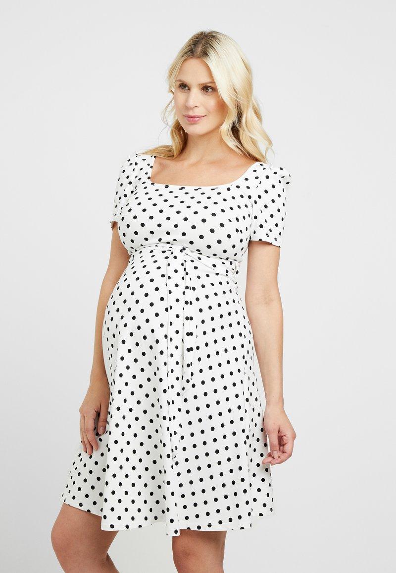 Dorothy Perkins Maternity - BASED SPOT PRINT DRESS - Jersey dress - ivory