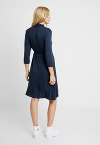 Dorothy Perkins Maternity - NURSING RUCHED WRAP DRESS - Jerseyklänning - navy - 2